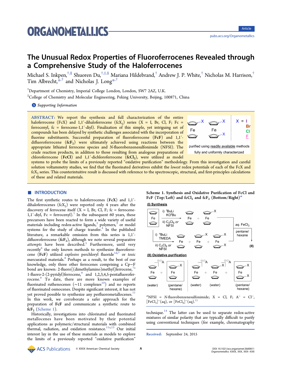 The Unusual Redox Properties of Fluoroferrocenes Revealed