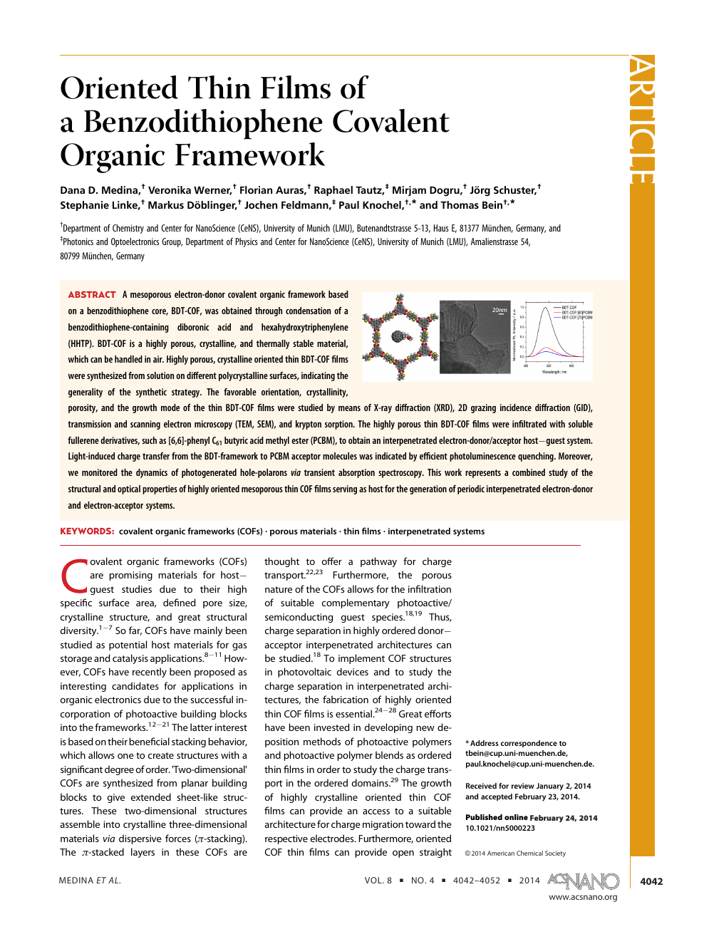 Oriented Thin Films Of A Benzodithiophene Covalent Organic Framework Topic Of Research Paper In Nano Technology Download Scholarly Article Pdf And Read For Free On Cyberleninka Open Science Hub