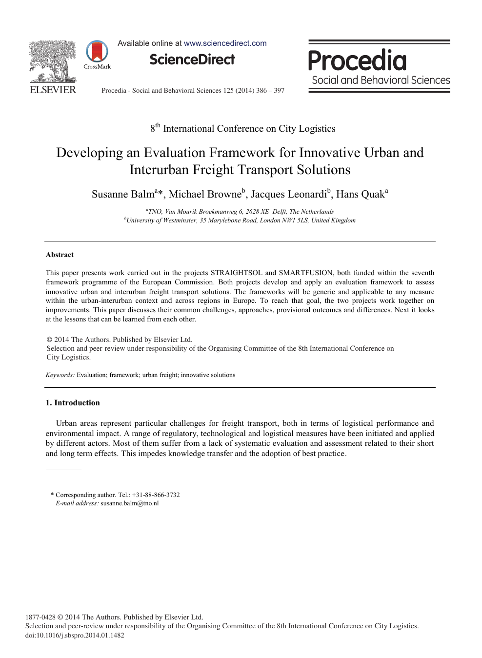 04574a68e253b0 Developing an Evaluation Framework for Innovative Urban and ...