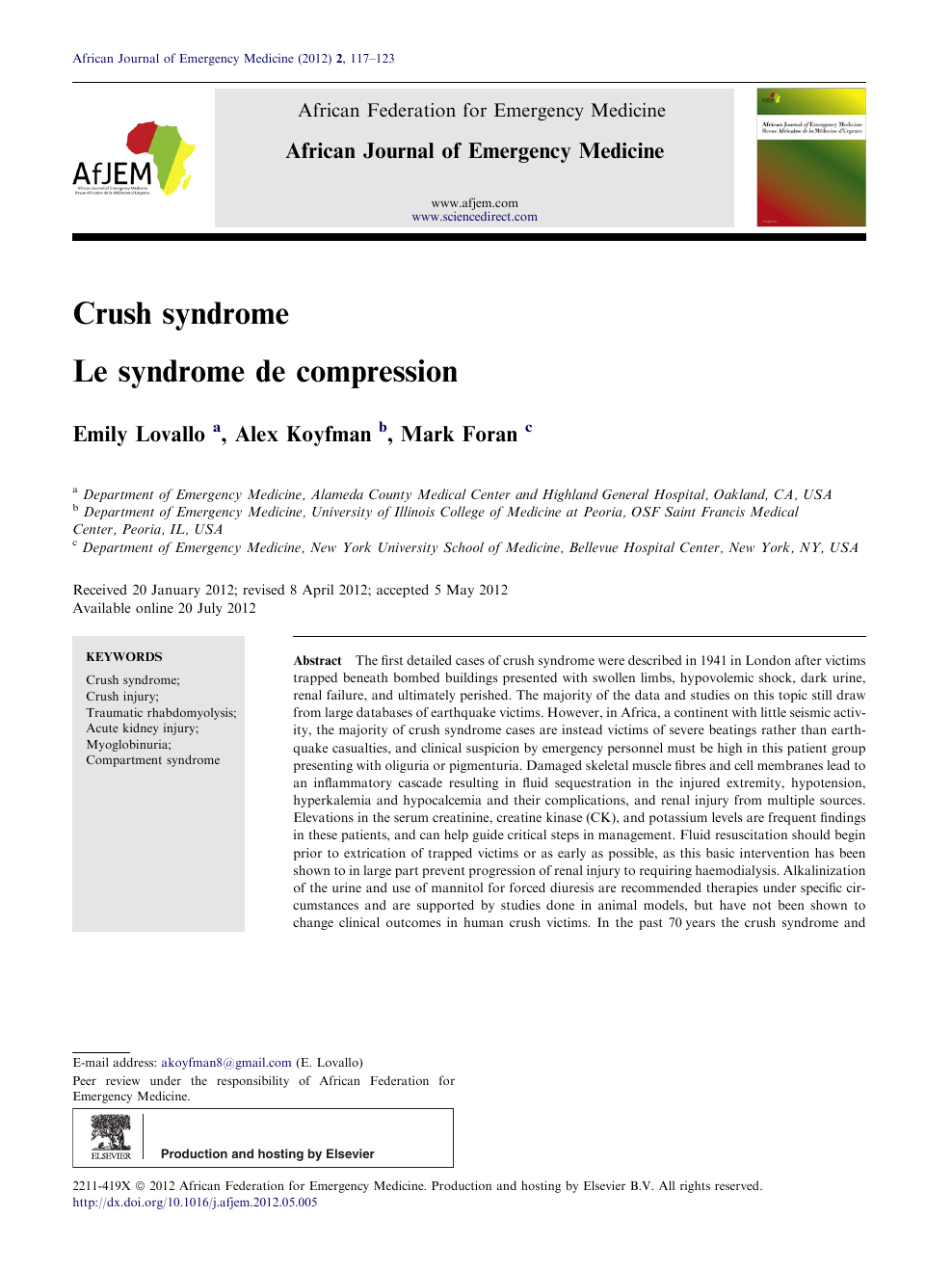 Syndrom crush Crush Syndrome