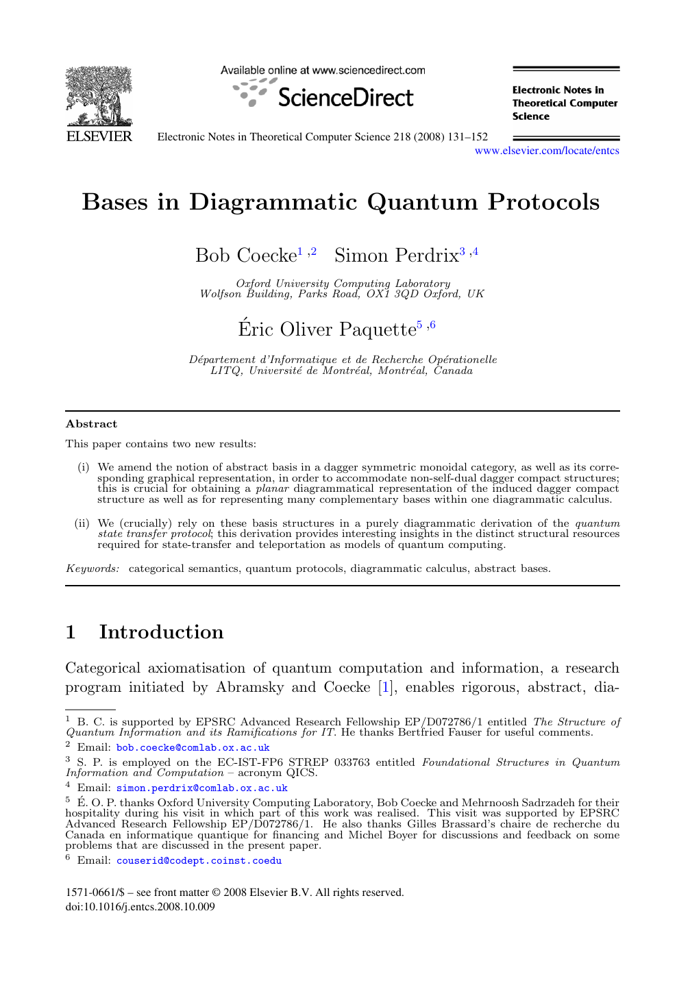 Bases in Diagrammatic Quantum Protocols – topic of research