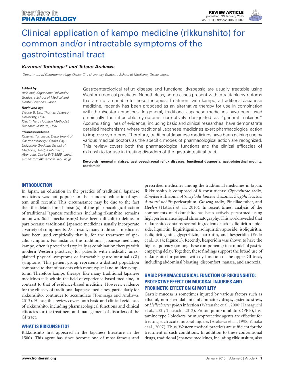 Clinical application of kampo medicine (rikkunshito) for common and