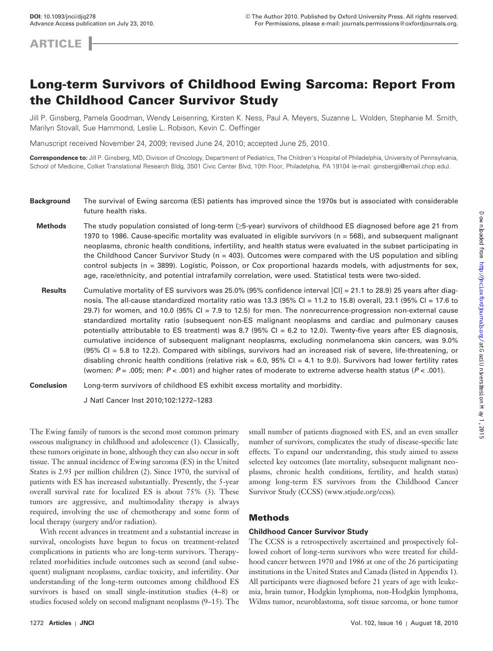 sarcoma cancer articles papiloame aproape