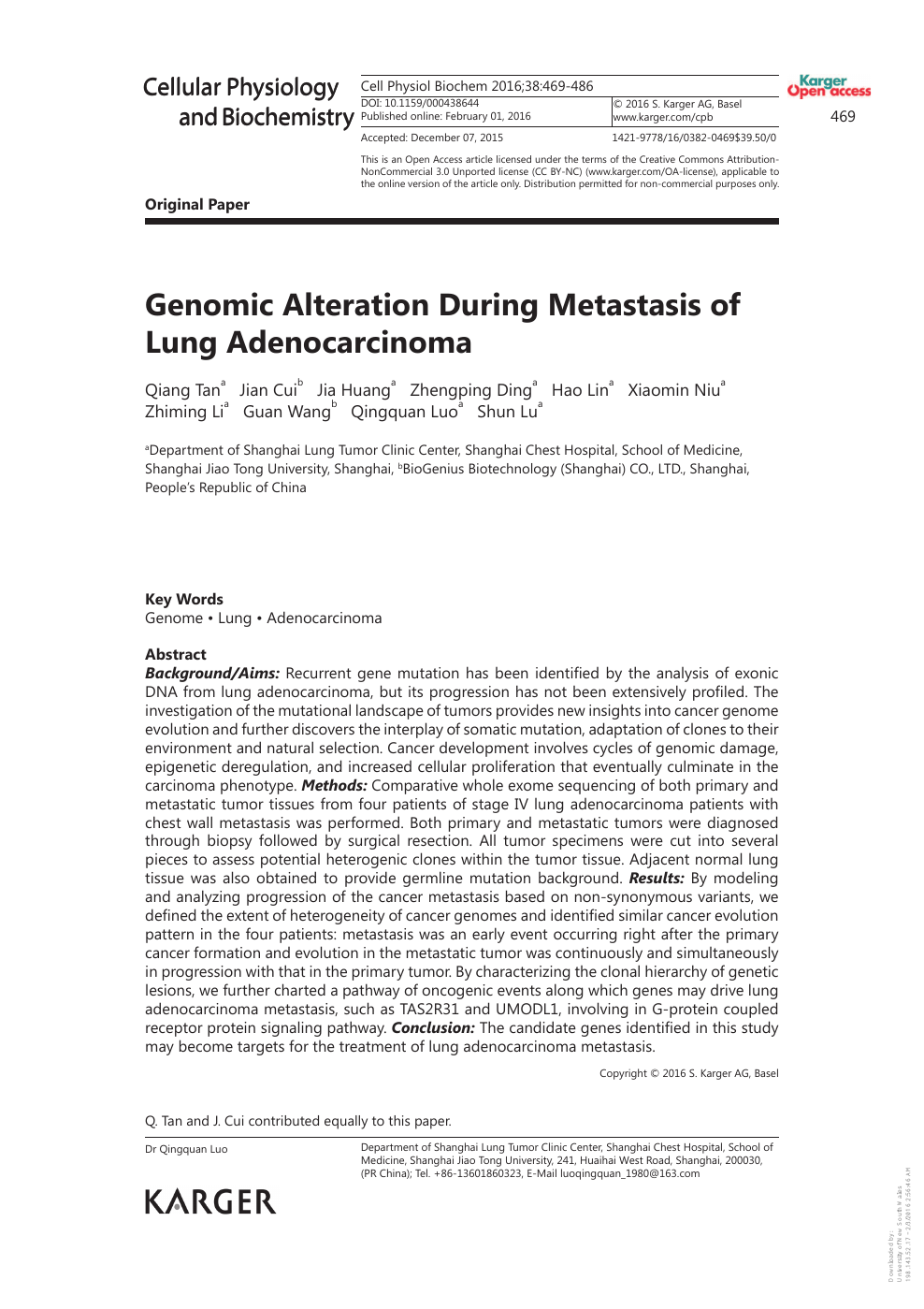 foto de Genomic Alteration During Metastasis of Lung Adenocarcinoma ...