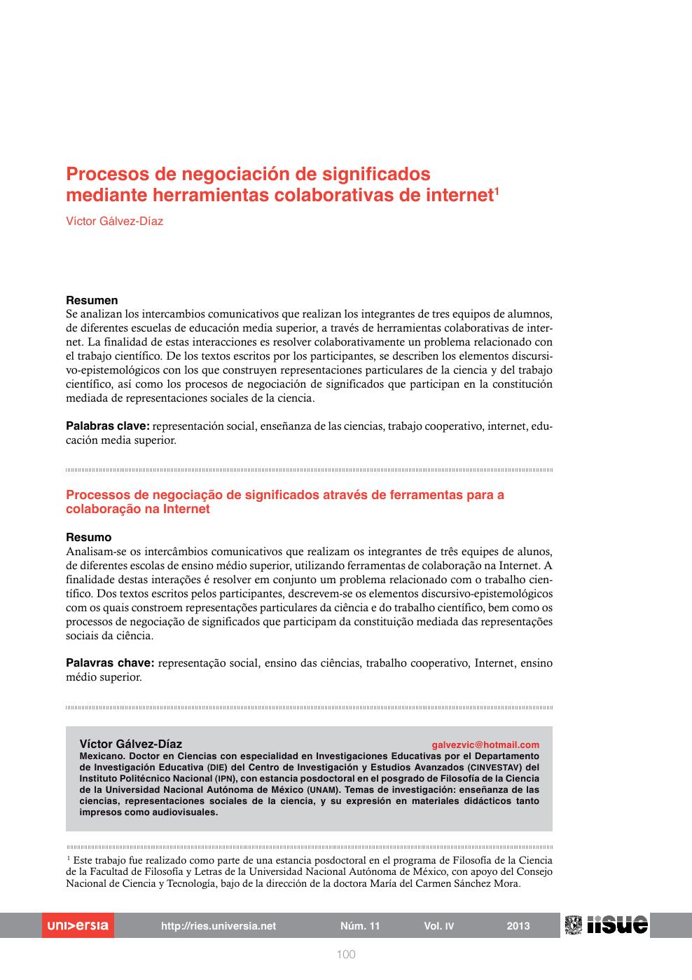 Procesos De Negociación De Significados Mediante