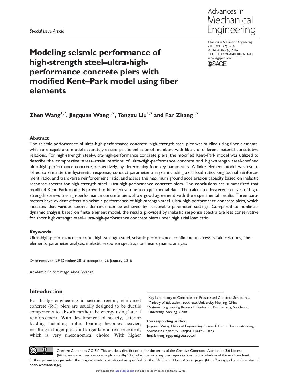 Modeling seismic performance of high-strength steel-ultra