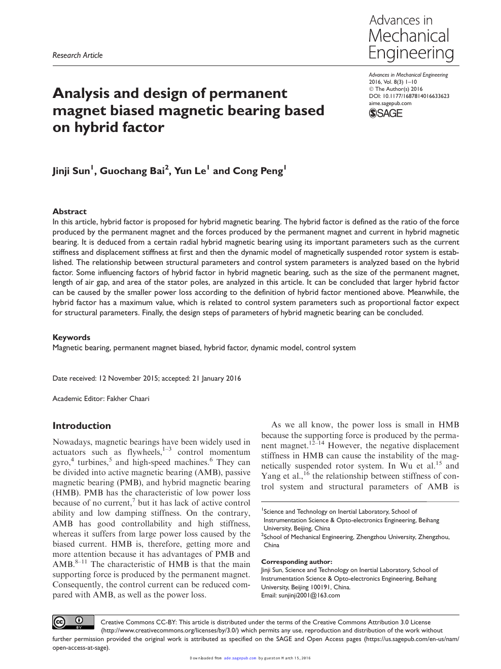 Analysis And Design Of Permanent Magnet Biased Magnetic Bearing Based On Hybrid Factor Topic Of Research Paper In Mechanical Engineering Download Scholarly Article Pdf And Read For Free On Cyberleninka Open