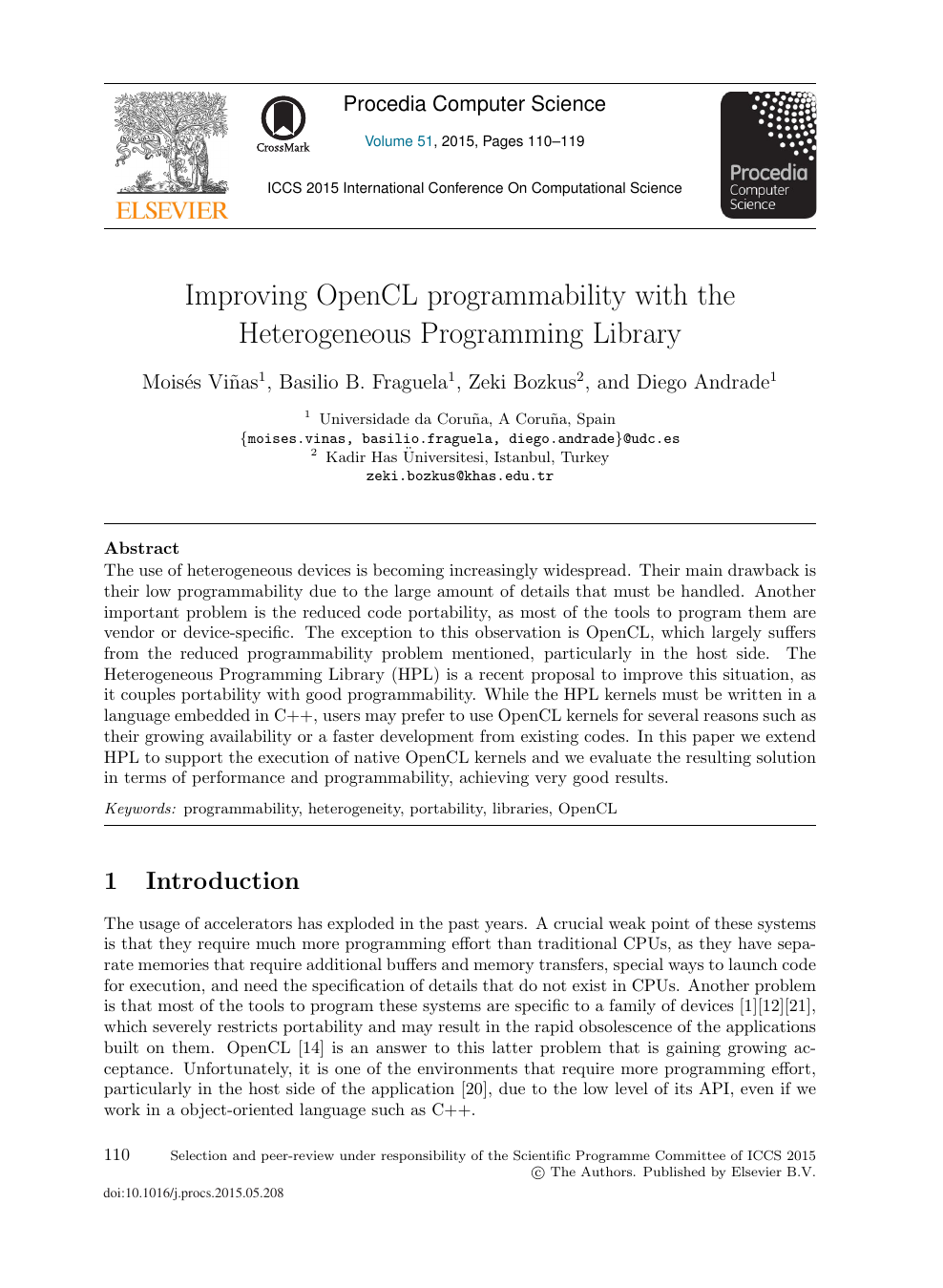 Improving OpenCL Programmability with the Heterogeneous Programming