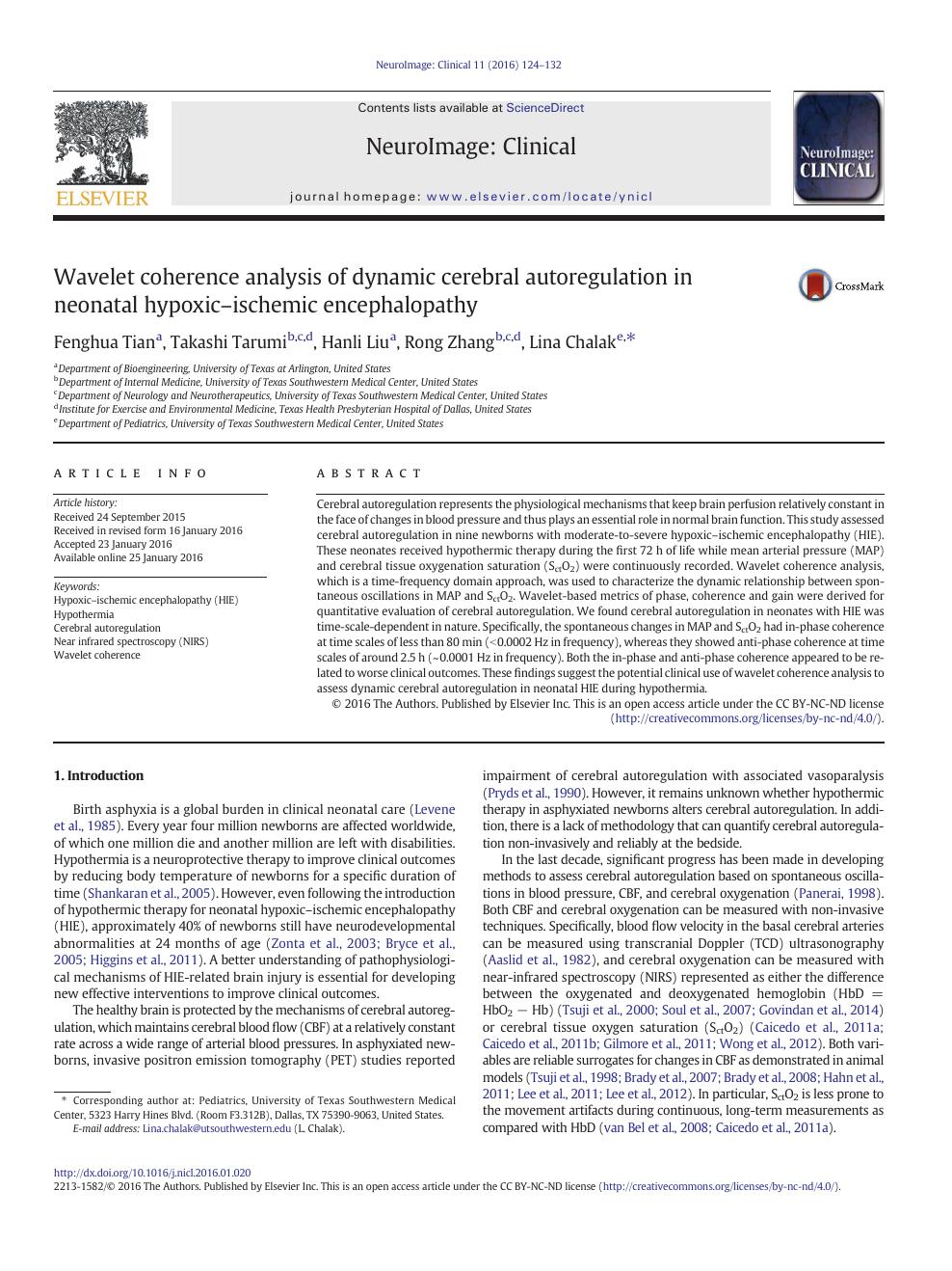 Wavelet coherence analysis of dynamic cerebral