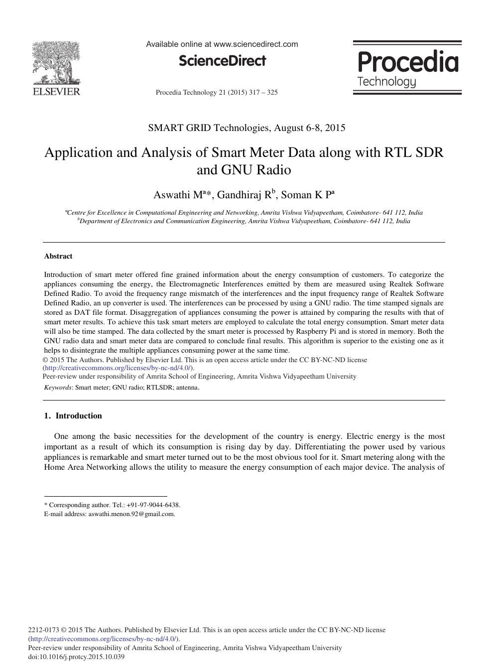 Application and Analysis of Smart Meter Data along with RTL