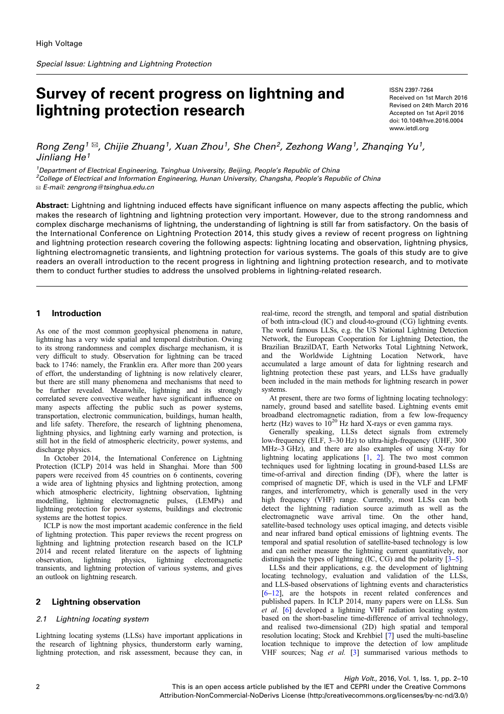 Lighting induced overvoltage phenomena in high voltage overhead distribution networks