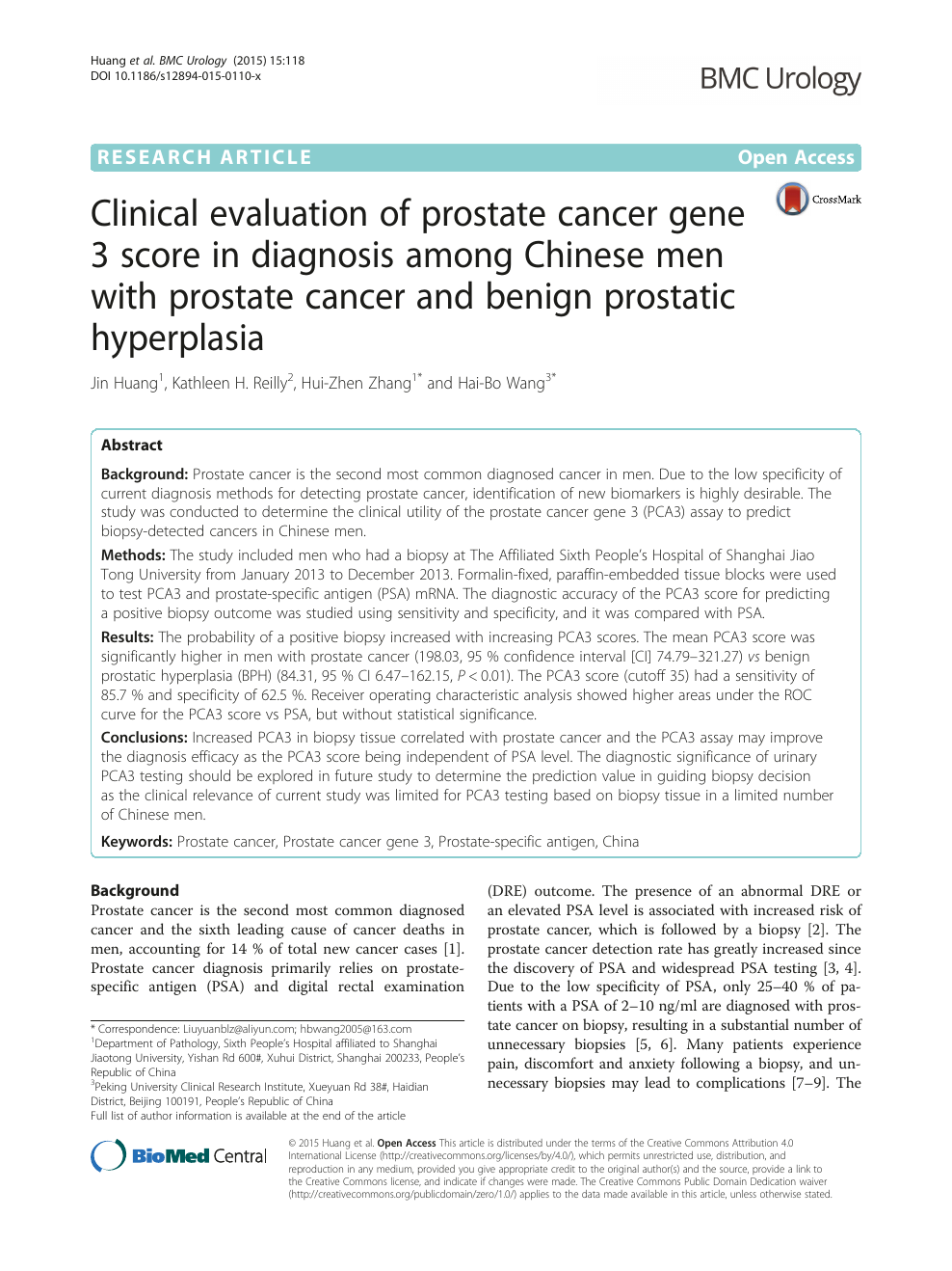 prostate cancer research articles