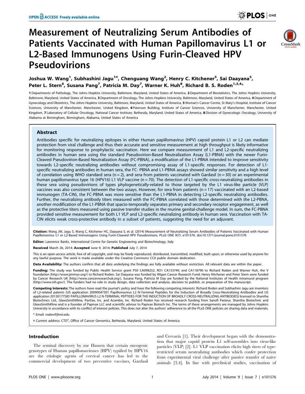 humán papillomavírus John Hopkins