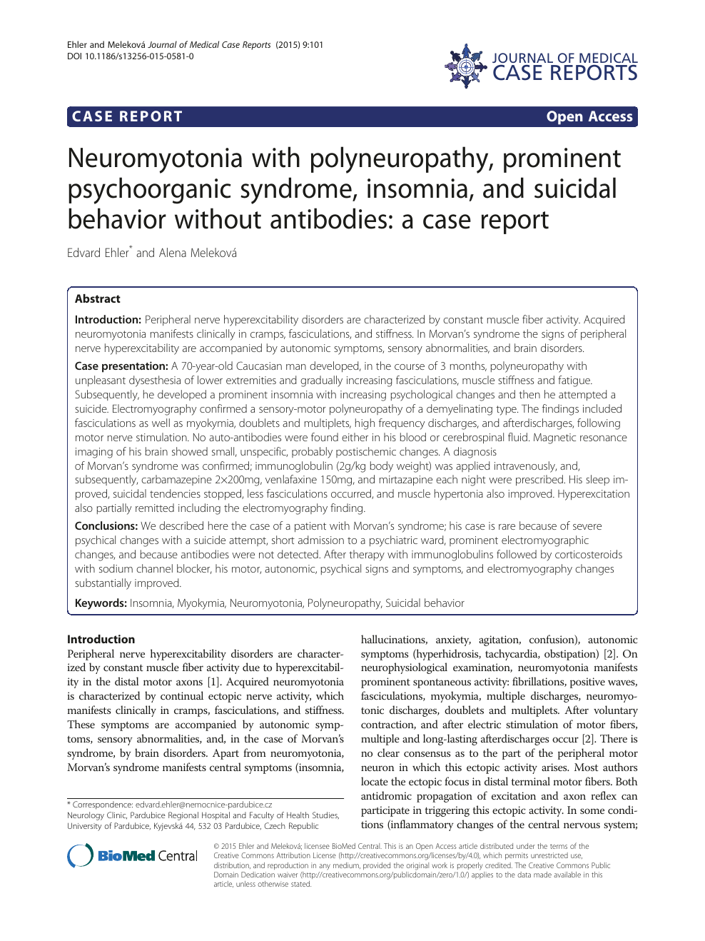 Neuromyotonia with polyneuropathy, prominent psychoorganic
