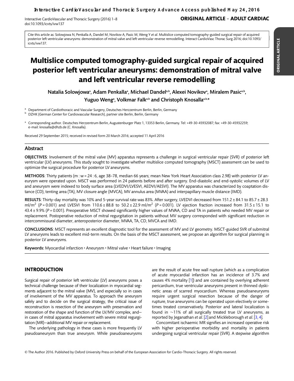 Multislice computed tomography-guided surgical repair of