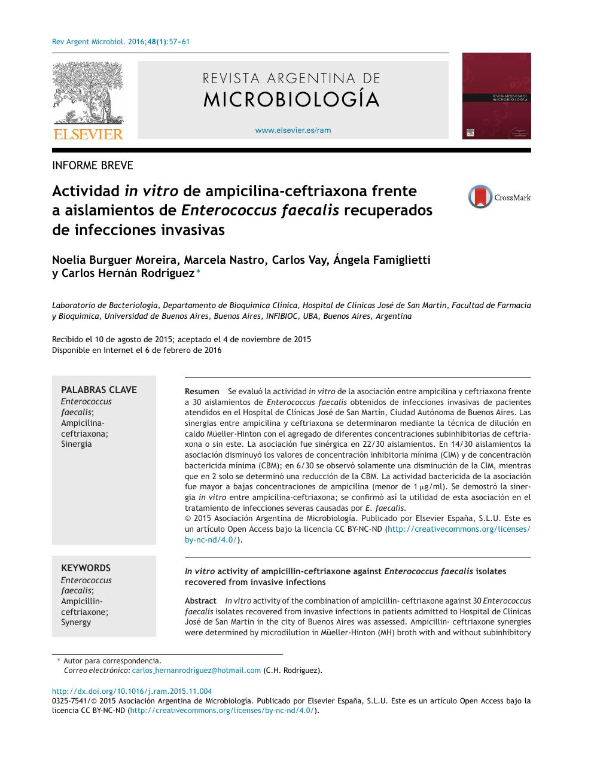 infecciones por enterococcus faecalis
