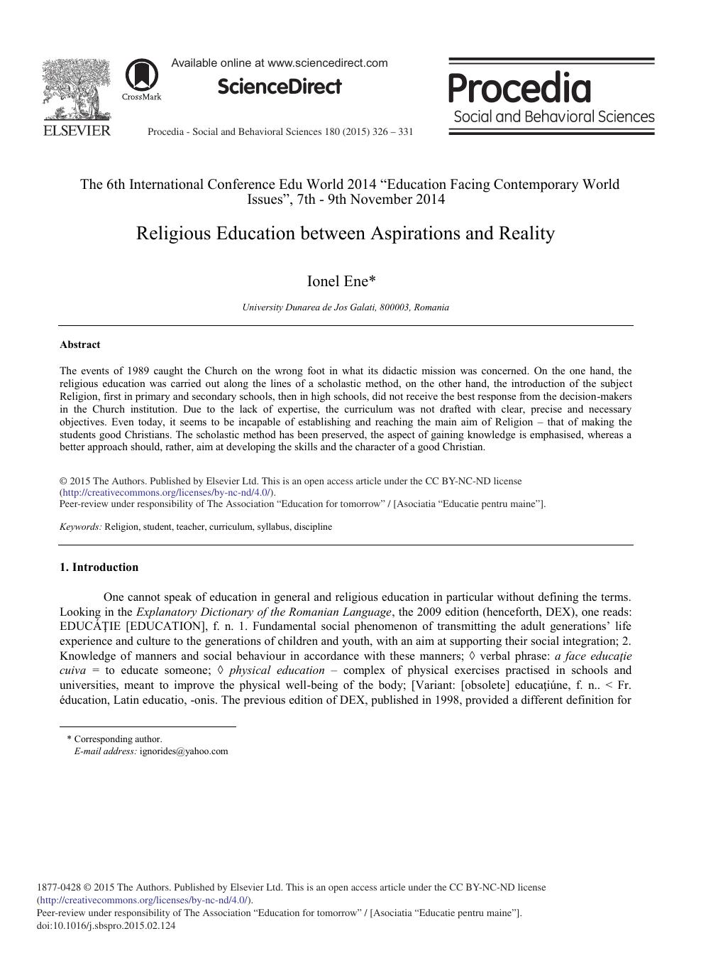 curriculum philosophy paper
