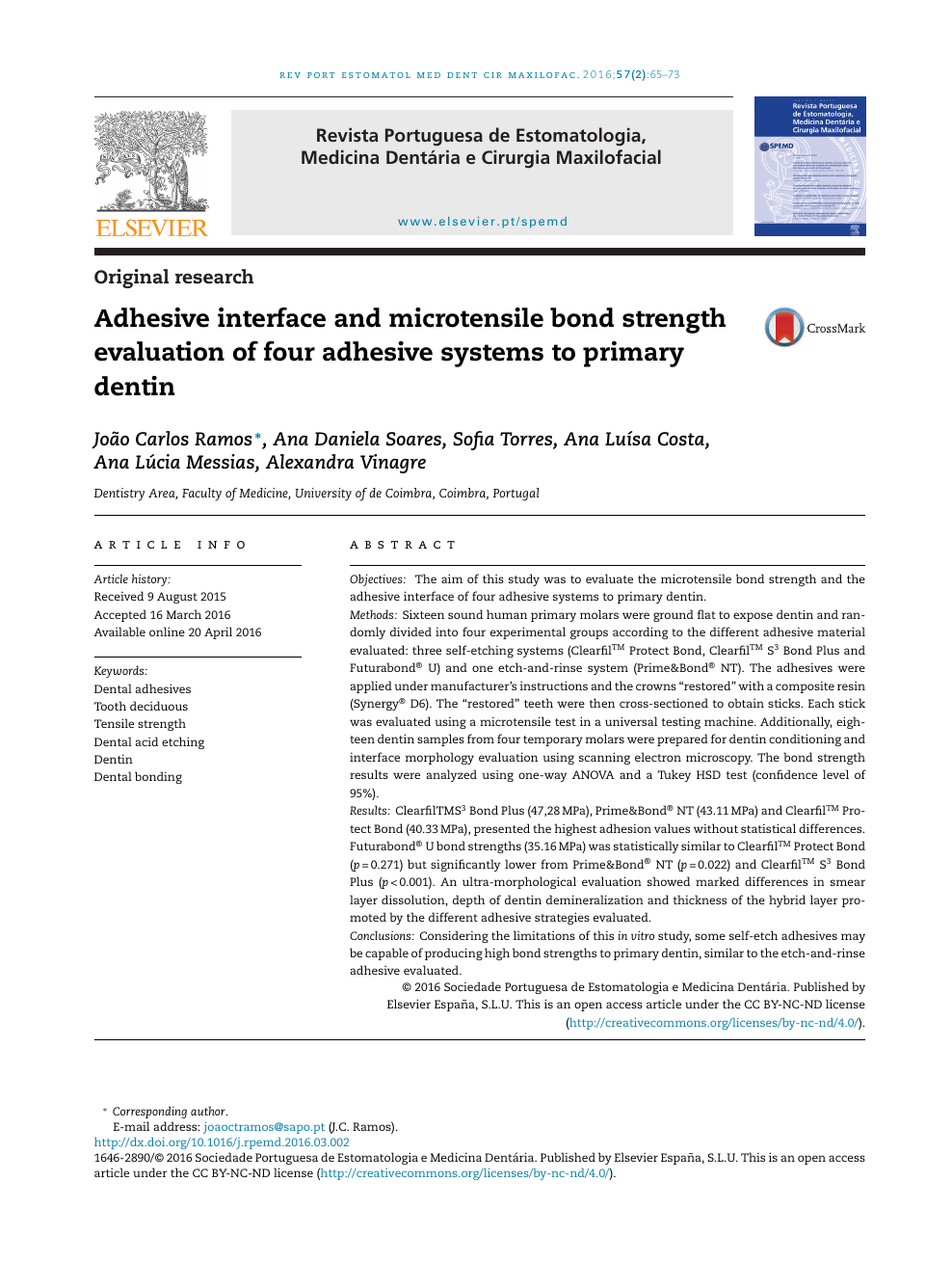 Adhesive Interface And Microtensile Bond Strength Evaluation Of Four
