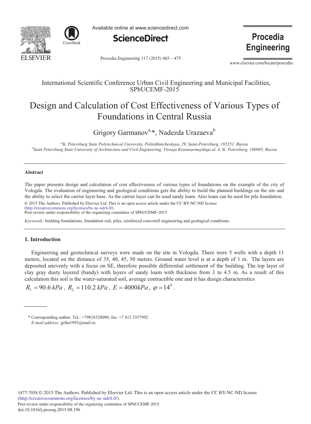 Design and Calculation of Cost Effectiveness of Various