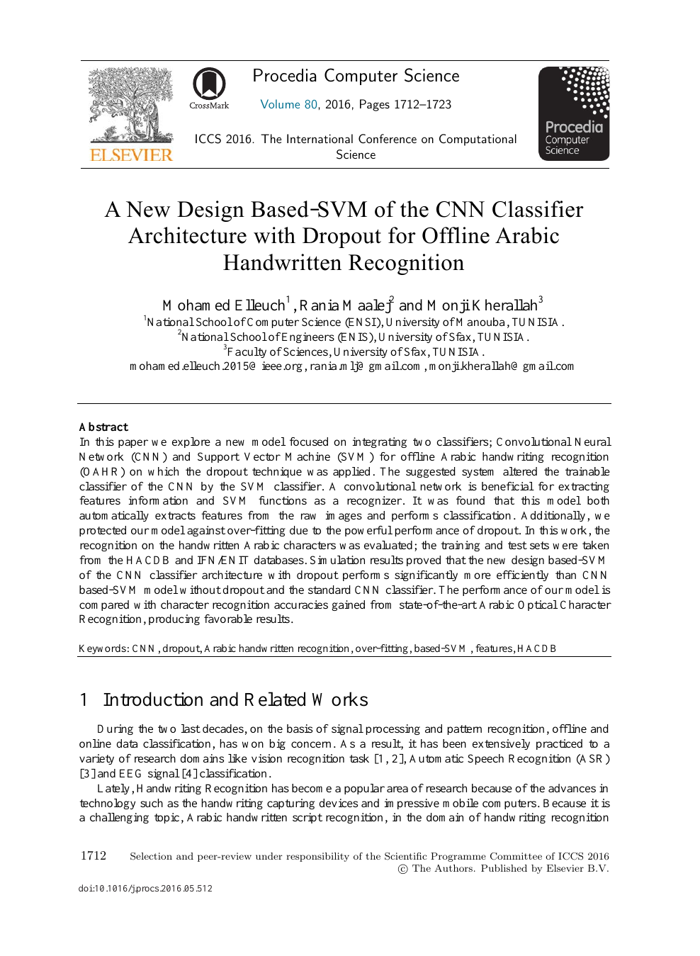 A New Design Based-SVM of the CNN Classifier Architecture with