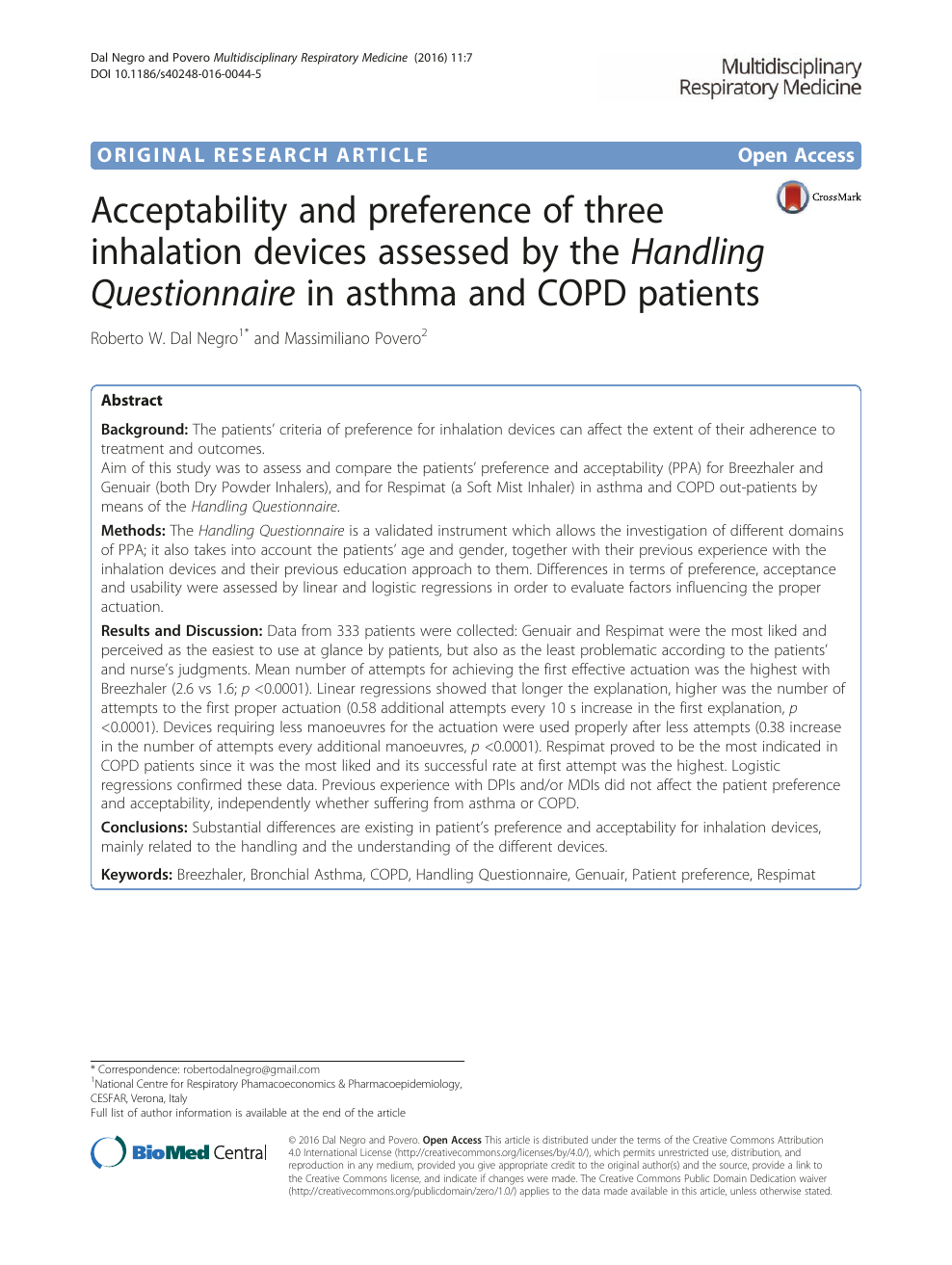 Acceptability And Preference Of Three Inhalation Devices Assessed