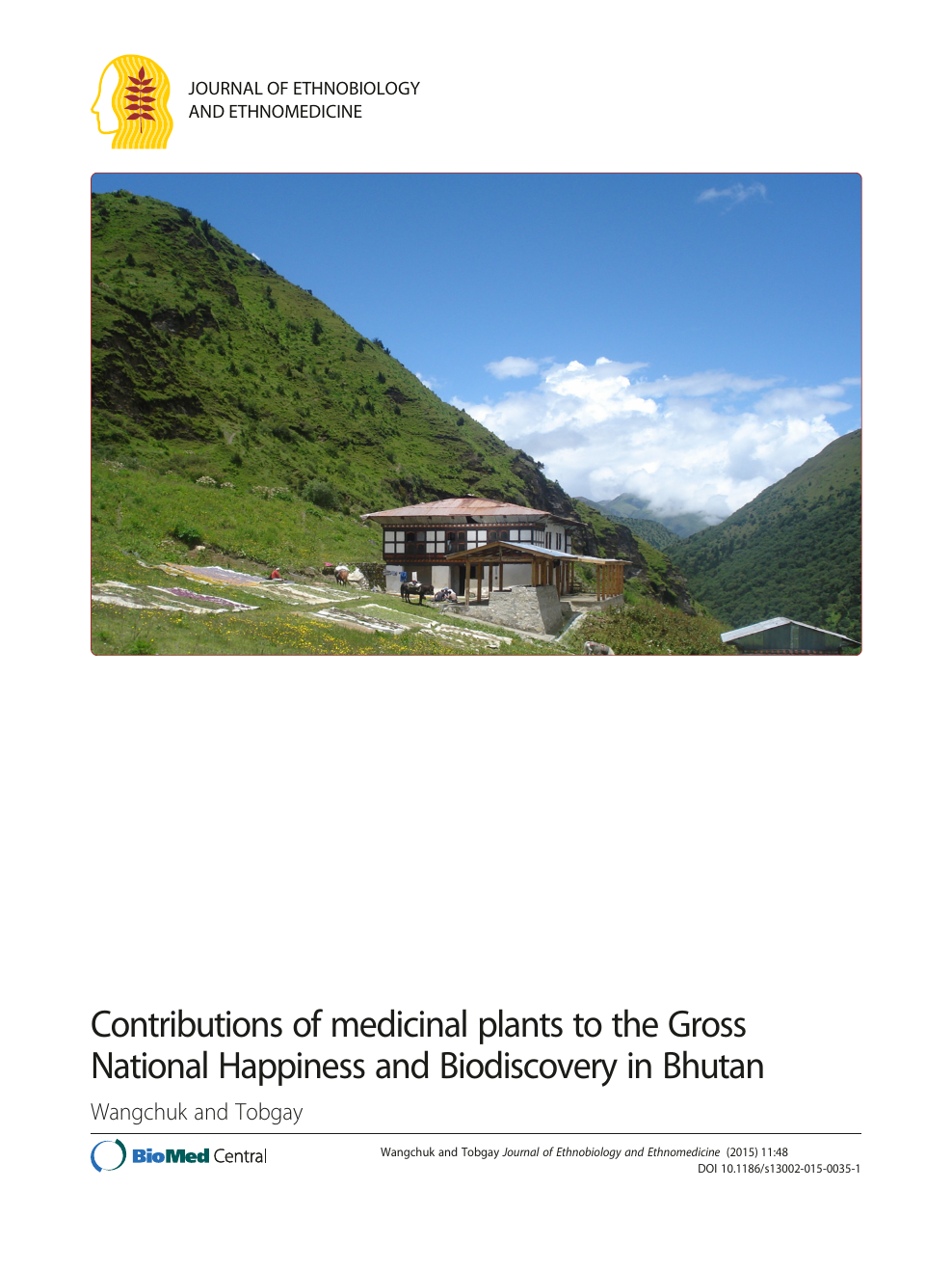 Contributions of medicinal plants to the Gross National Happiness