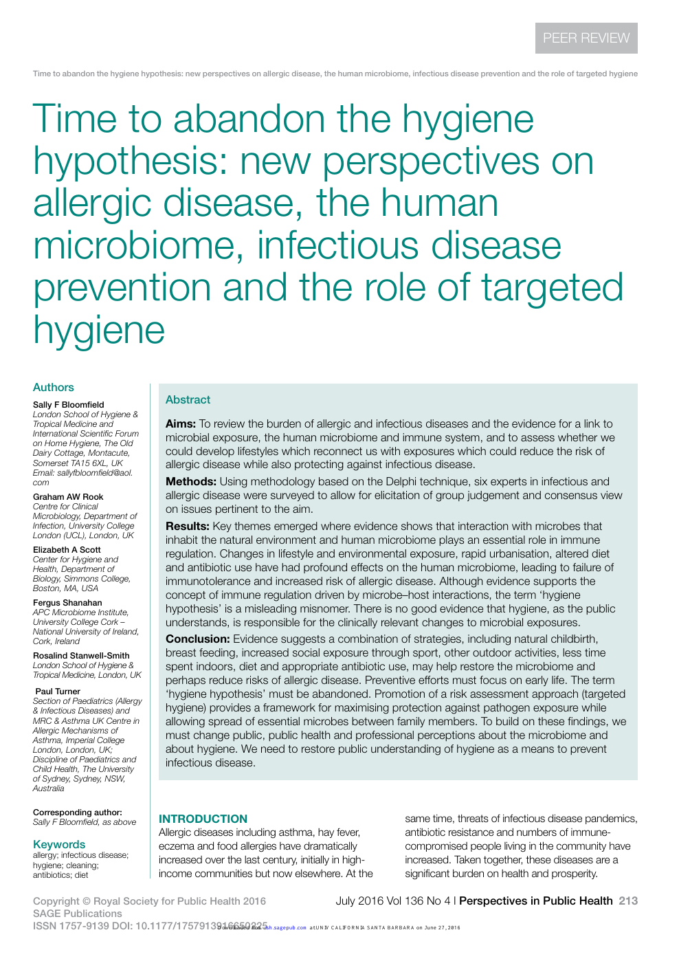 Time To Abandon The Hygiene Hypothesis New Perspectives On