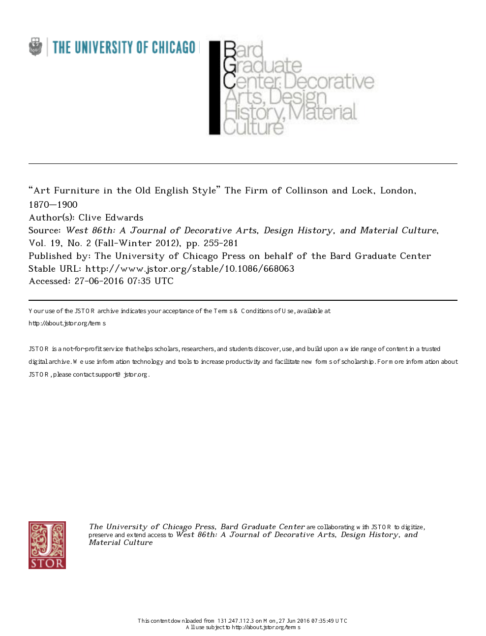 Art Furniture In The Old English Style 1 The Firm Of Collinson And Lock London 1870 1900 Topic Of Research Paper In Art Arts History Of Arts Performing Arts Music Download Scholarly