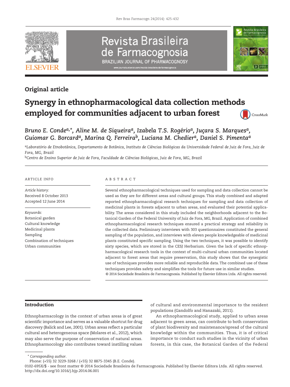 Synergy in ethnopharmacological data collection methods employed for