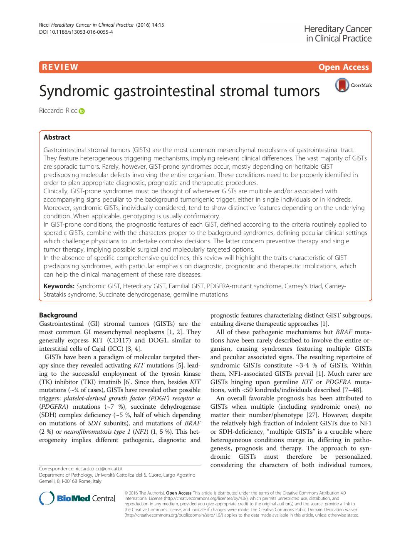 Syndromic gastrointestinal stromal tumors – topic of