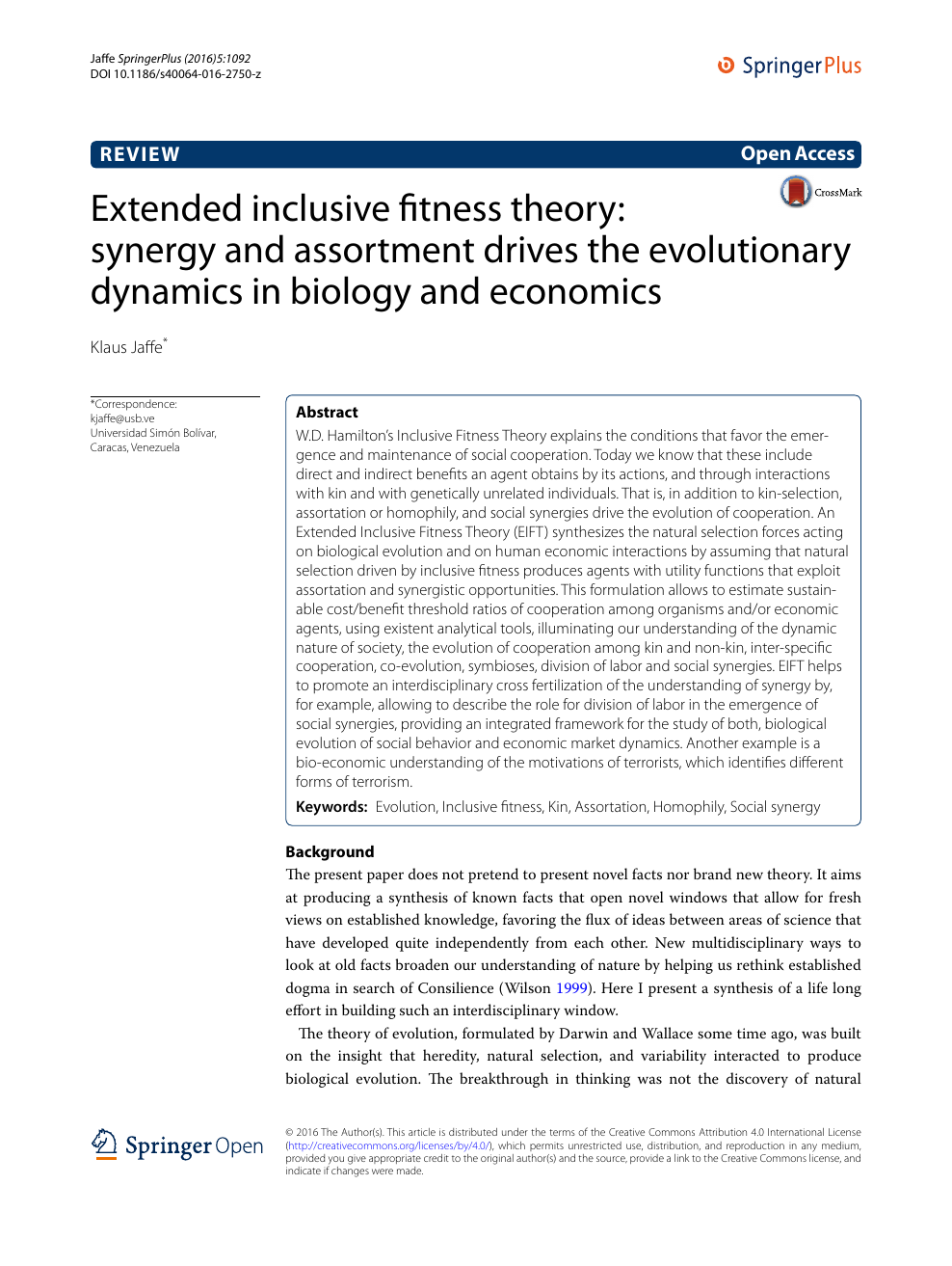 Extended inclusive fitness theory: synergy and assortment