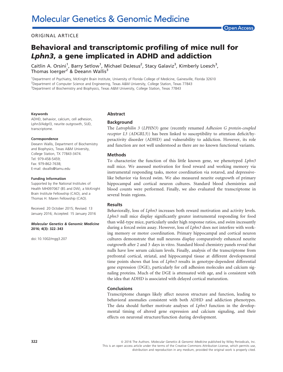 Adhd Real Brain Disorder Or Further >> Behavioral And Transcriptomic Profiling Of Mice Null