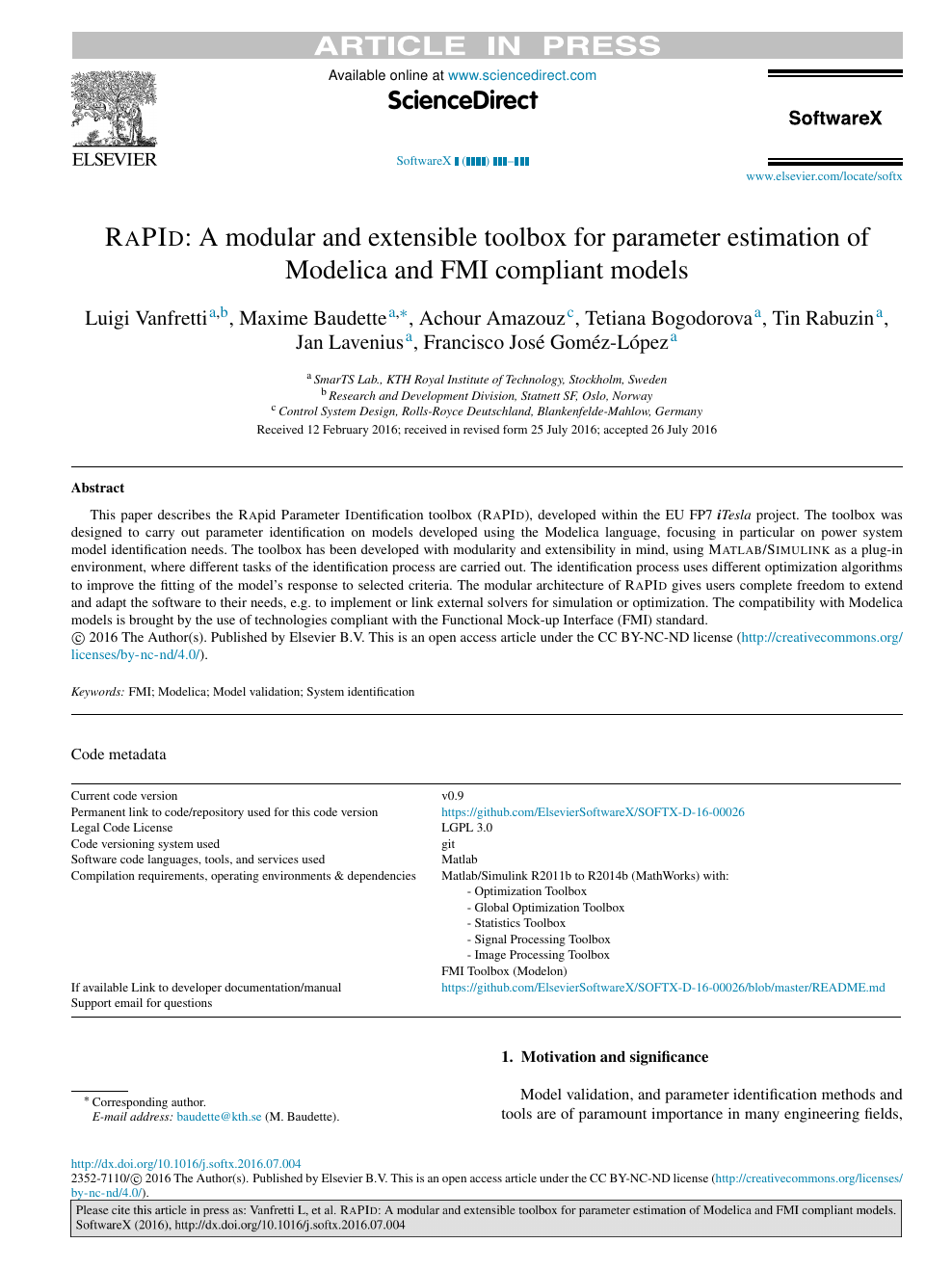 RaPId: A modular and extensible toolbox for parameter estimation of