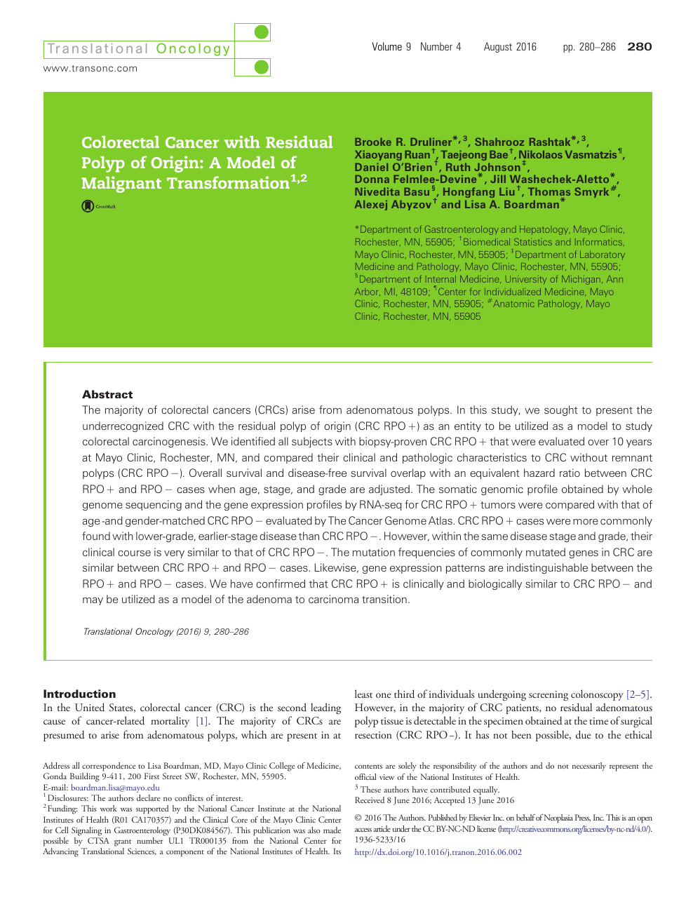 Colorectal Cancer with Residual Polyp of Origin: A Model of