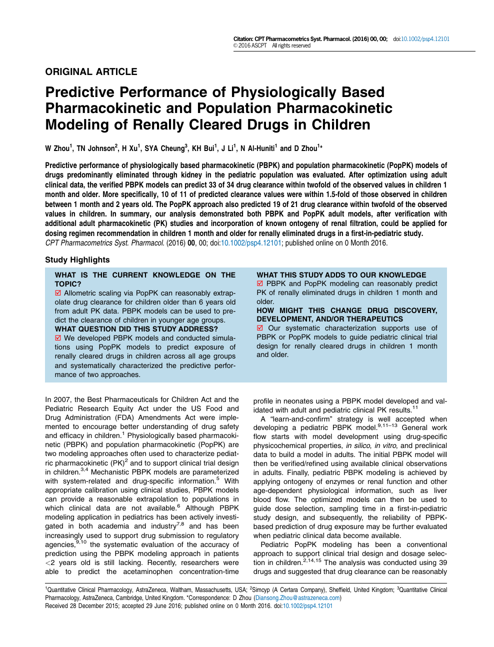 Predictive Performance of Physiologically Based