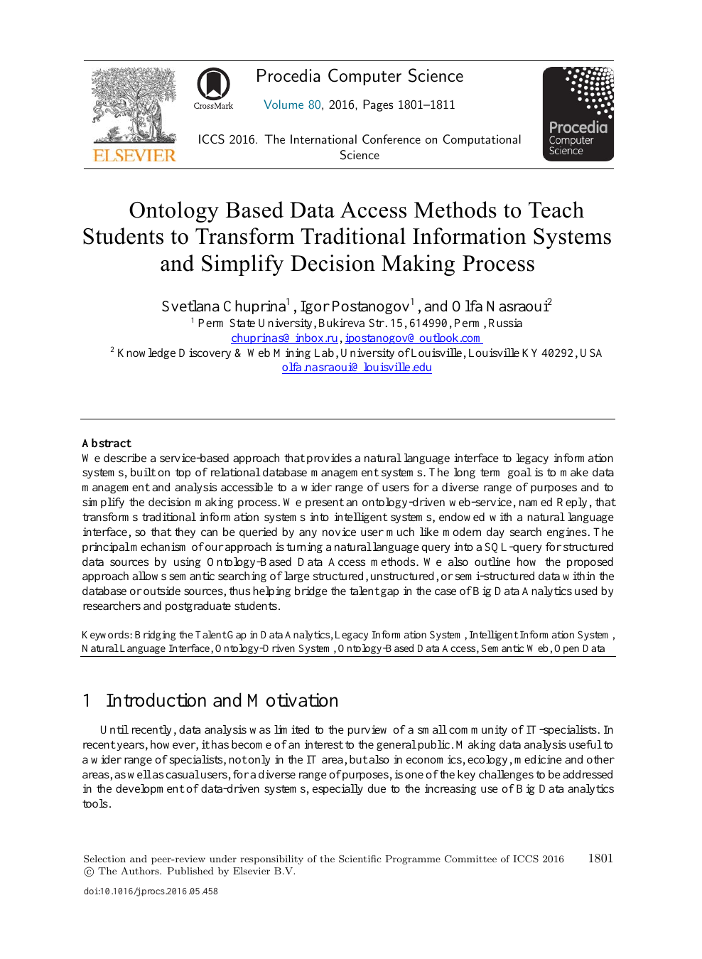 Ontology Based Data Access Methods to Teach Students to