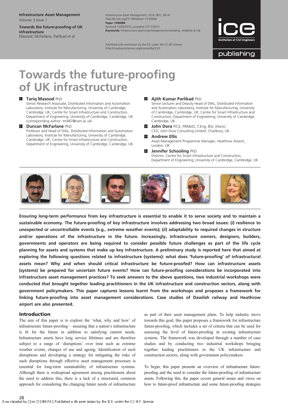 Towards the future-proofing of UK infrastructure – topic of research