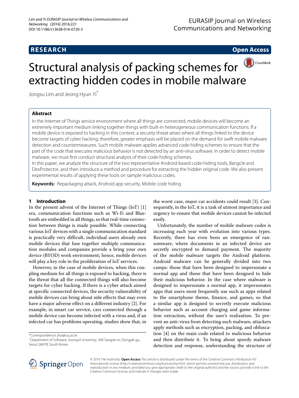 Structural analysis of packing schemes for extracting hidden codes