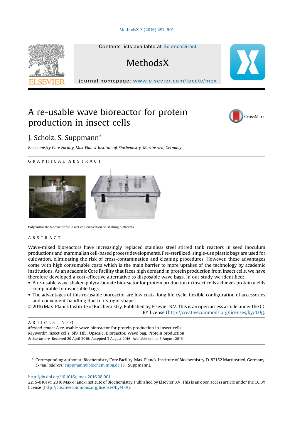 A re-usable wave bioreactor for protein production in insect cells