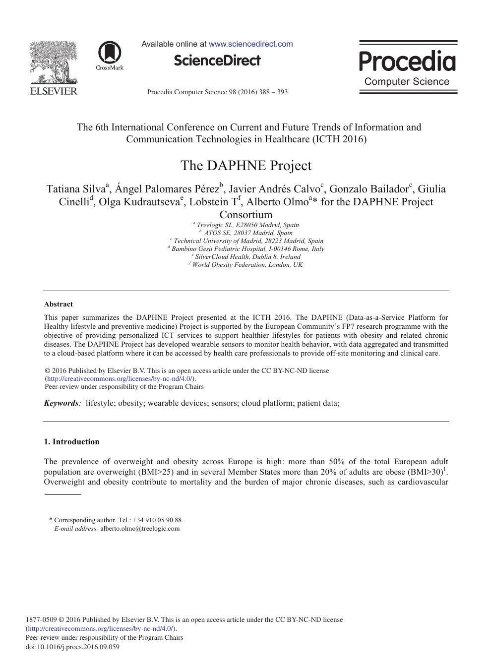 The DAPHNE Project – topic of research paper in Economics
