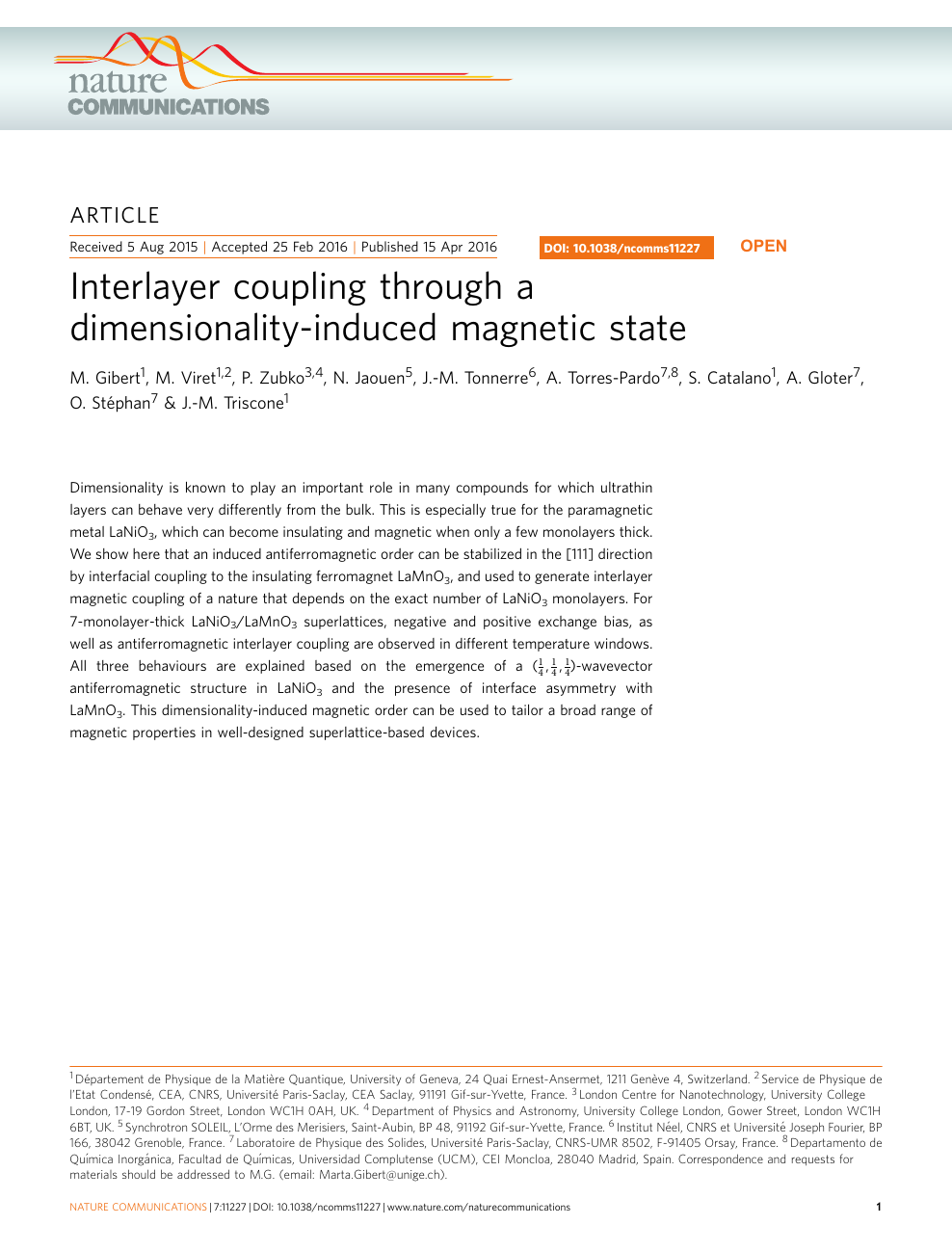 Interlayer coupling through a dimensionality-induced