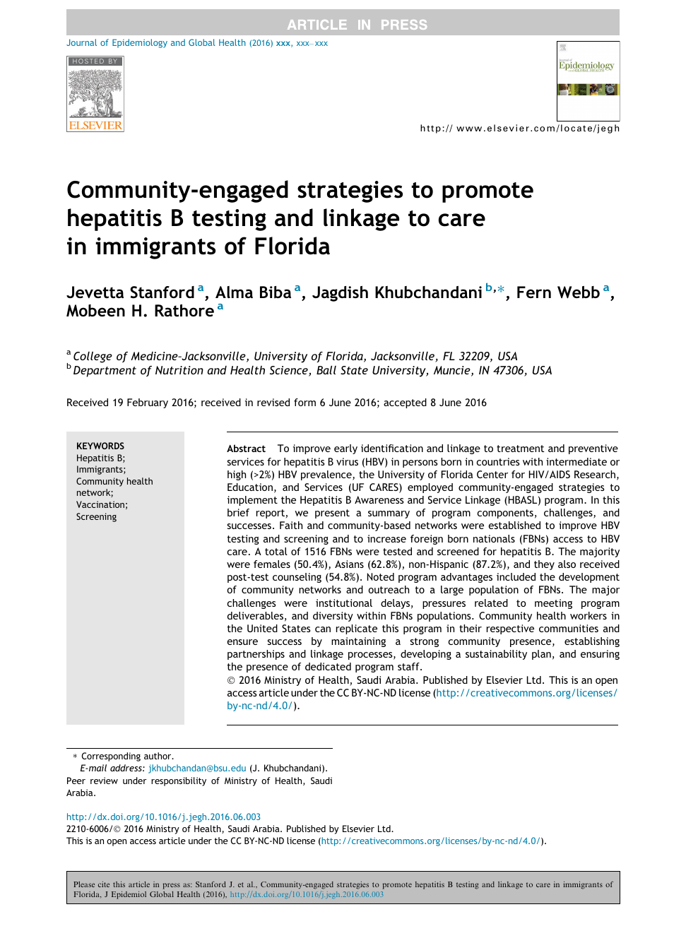 Community-engaged strategies to promote hepatitis B testing and