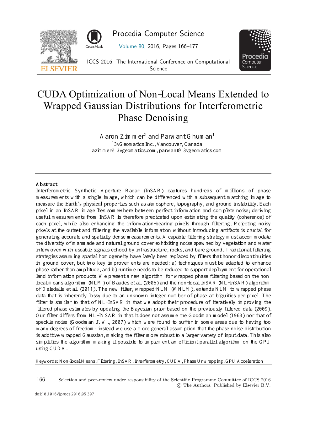CUDA Optimization of Non-local Means Extended to Wrapped Gaussian