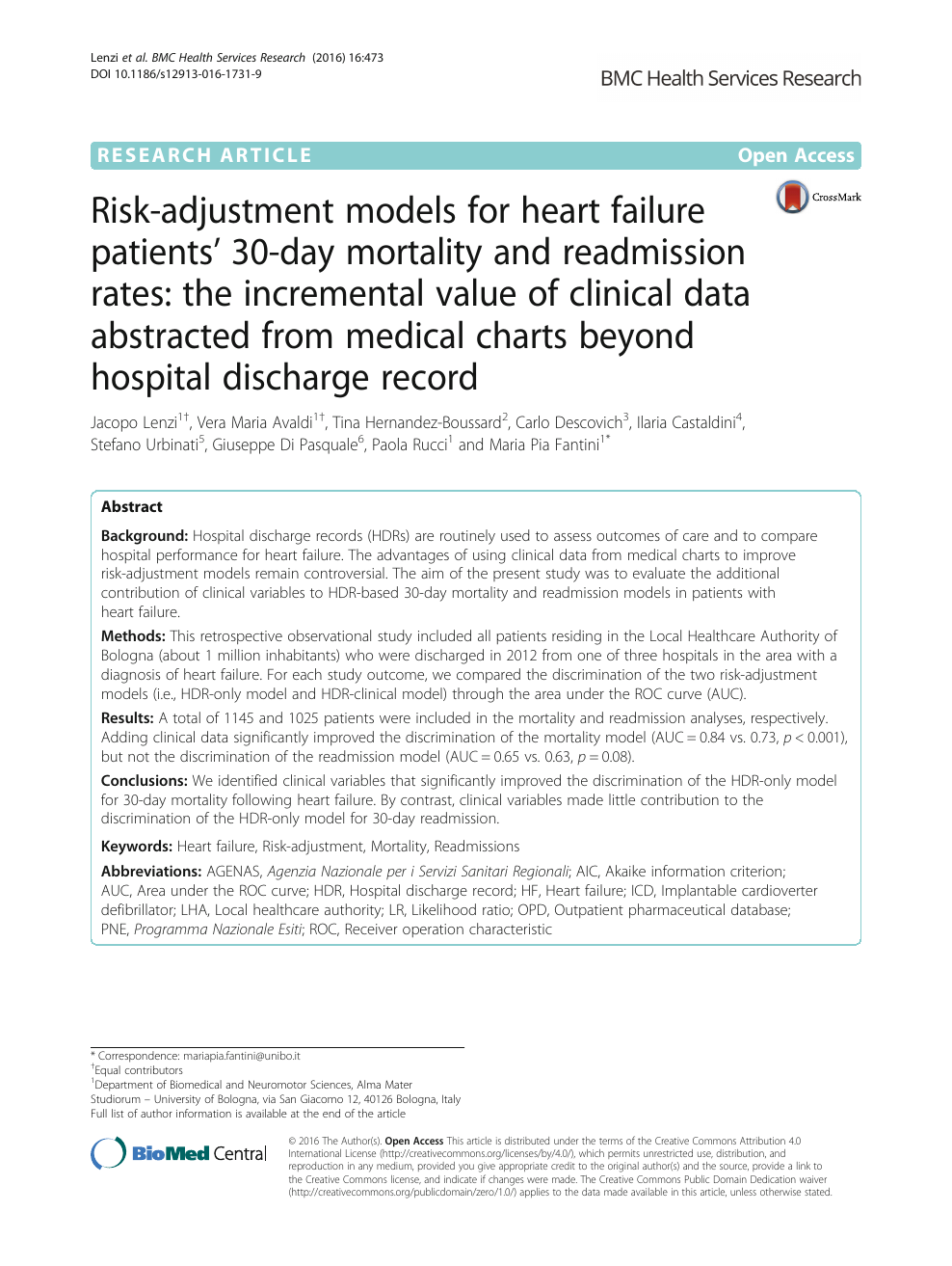 Risk-adjustment models for heart failure patients  30-day mortality ... 59e69fe52cf