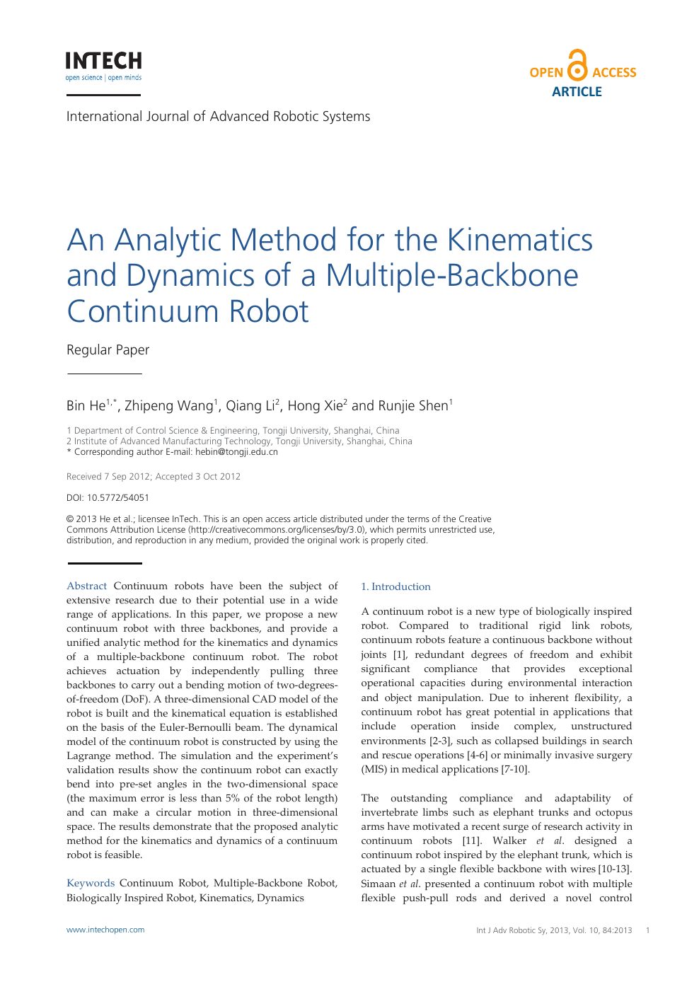 An Analytic Method for the Kinematics and Dynamics of a Multiple