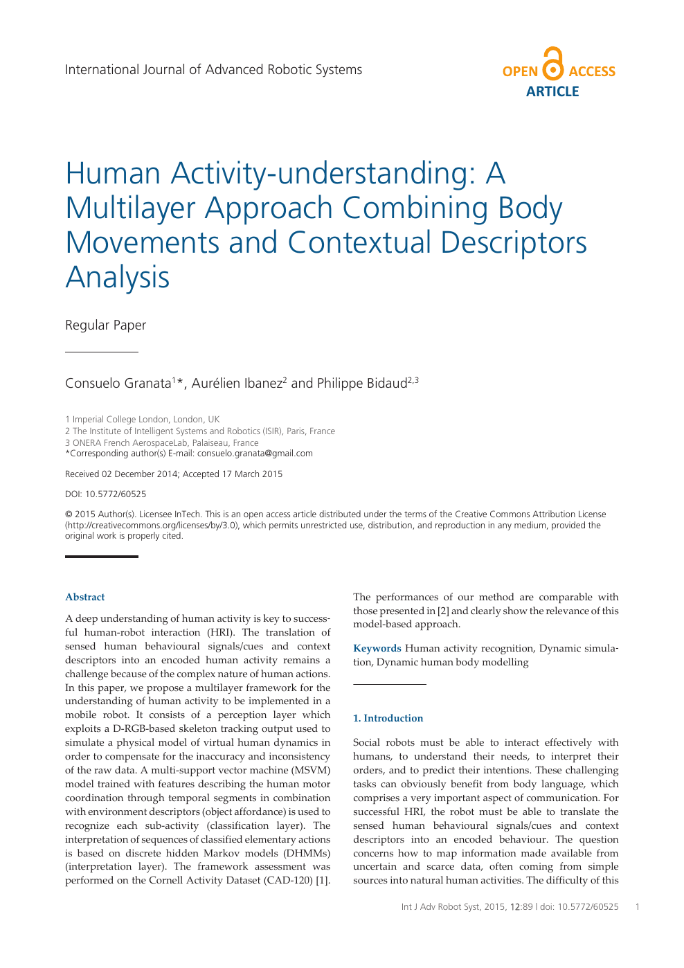 Human Activity-understanding: A Multilayer Approach Combining Body