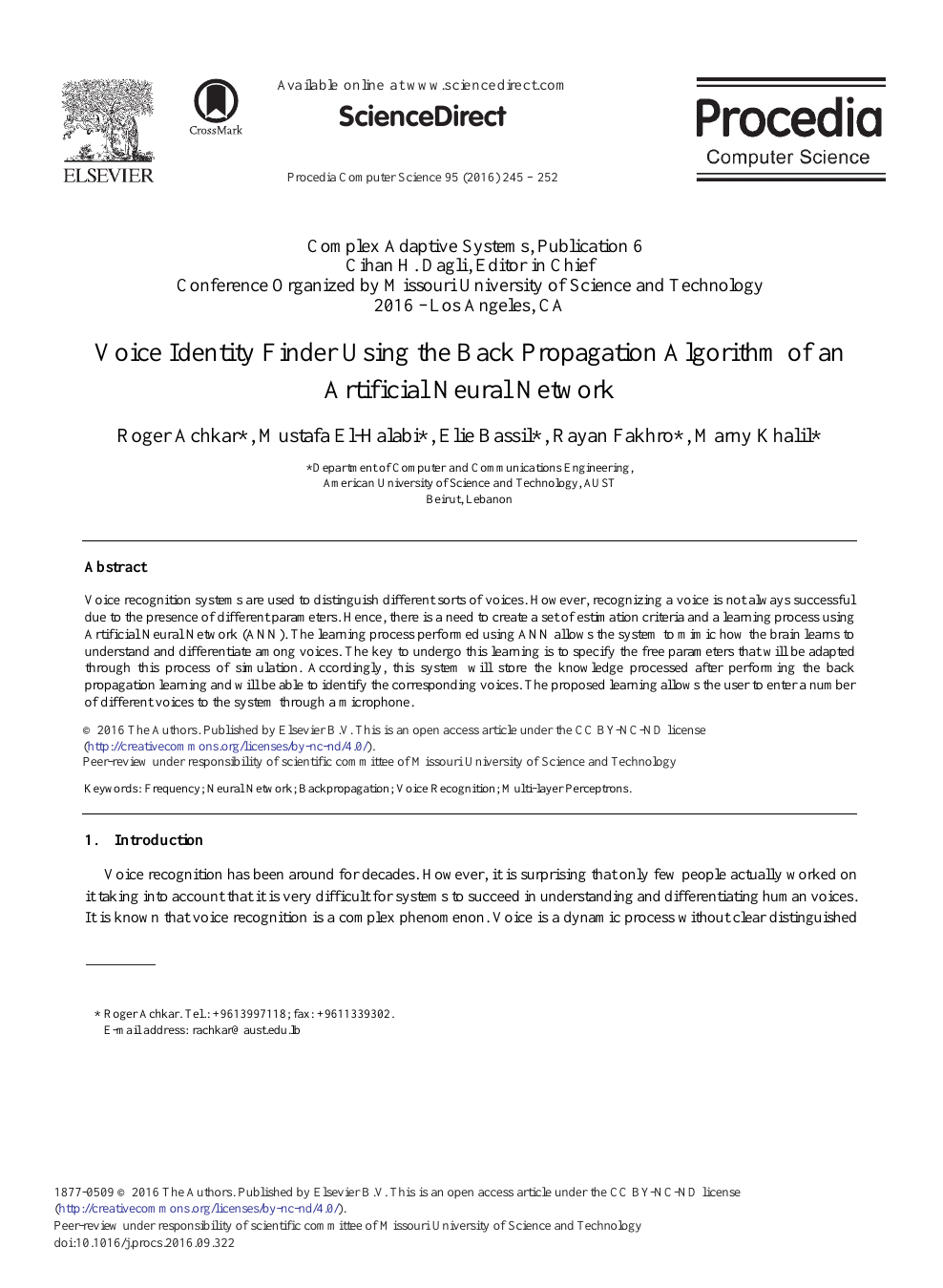 Voice Identity Finder Using the Back Propagation Algorithm
