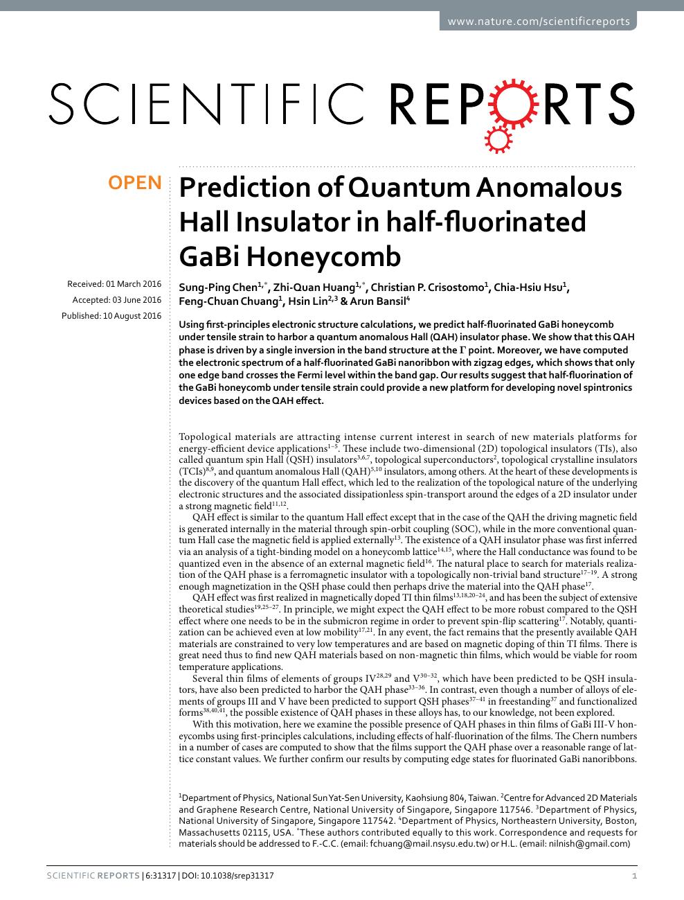 Prediction of Quantum Anomalous Hall Insulator in half-fluorinated