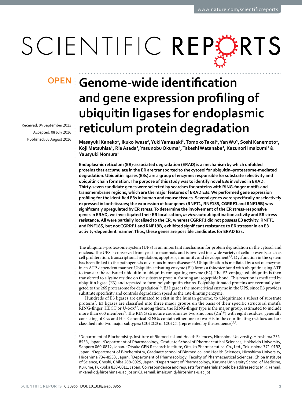 Genome-wide identification and gene expression profiling of