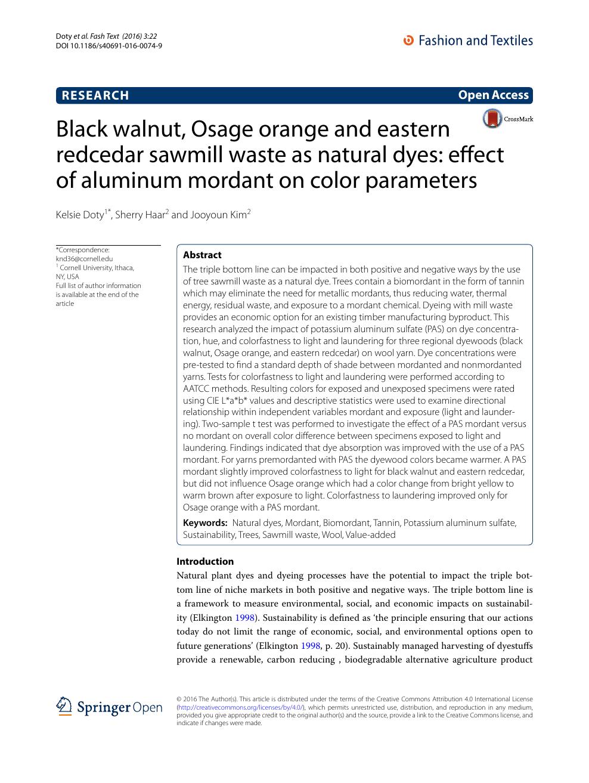 Black walnut, Osage orange and eastern redcedar sawmill waste as